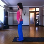 prenatal mountain pose at almost 19 months pregnant