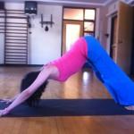 Prenatal Yoga Adho Mukha Svanasana almost 19 weeks pregnant