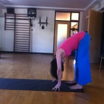 prenatal yoga straight legged forward bend almost 19 weeks pregnant