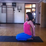 prenatal yoga ptional modification for cobra pose in sun salutation at almost 19 weeks pregnant