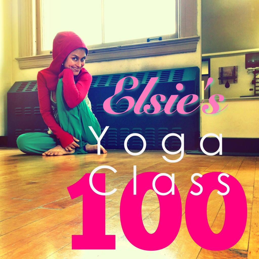 the longest running yoga podcast with almost 100 free yoga classes with Elsie Escobar